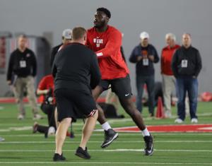 Isaiah Prince Ohio State football 2019 Pro Day
