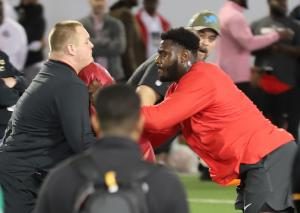Isaiah Prince Ohio State football Pro Day