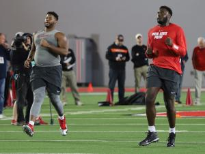 Malcolm Pridgeon Isaiah Prince Ohio State Football 2019 Pro Day