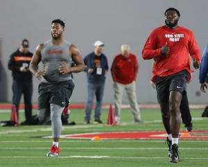 Malcolm Pridgeon Isaiah Prince Ohio State Football Pro Day