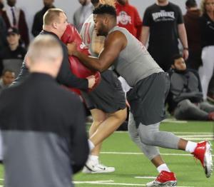 Malcolm Pridgeon Ohio State football 2019 Pro Day