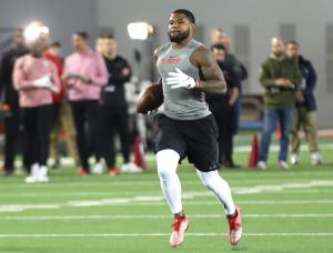 Mike Weber Ohio State football Pro Day 2019