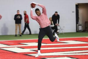 Terry McLaurin 2019 Ohio State football Pro Day catch