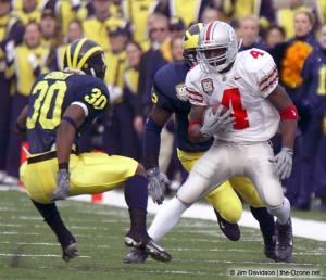 016 Santonio Holmes Ohio State Michigan 2003 The Game football