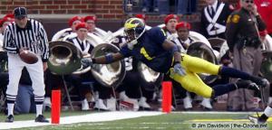 027 Braylon Edwards Ohio State Michigan 2003 The Game football