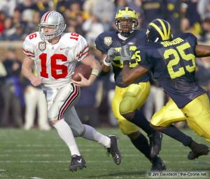 041 Craig Krenzel Ohio State Michigan 2003 The Game football