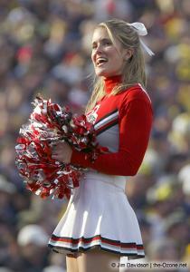 051 OSU cheerleaders Ohio State Michigan 2003 The Game football