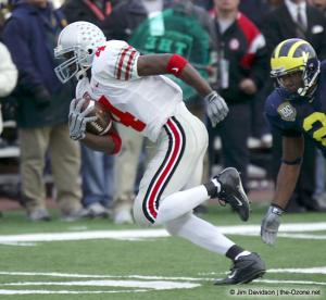 055 Santonio Holmes Ohio State Michigan 2003 The Game football