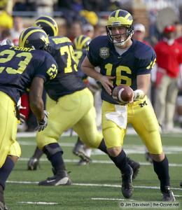 058 John Navarre Chris Perry Ohio State Michigan 2003 The Game football