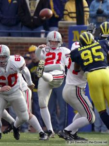 060 BJ Sander Ohio State Michigan 2003 The Game football