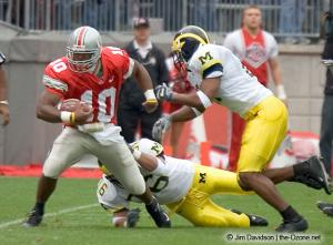008 Troy Smith Ohio State Michigan 2004 The Game football