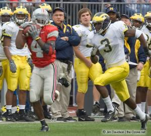 022 Santonio Holmes Ohio State Michigan 2004 The Game football