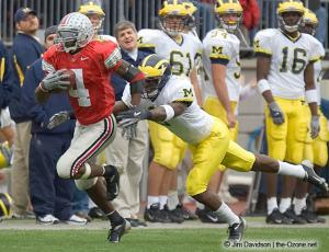 023 Santonio Holmes Ohio State Michigan 2004 The Game football
