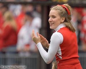 028 OSU cheerleader Ohio State Michigan 2004 The Game football