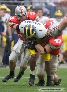 029 AJ Hawk Dustin Fox Ohio State Michigan 2004 The Game football
