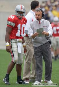 040 Troy Smith Jim Tressel Ohio State Michigan 2004 The Game football