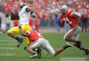 052 Nate Salley Tyler Everett Ohio State Michigan 2004 The Game football