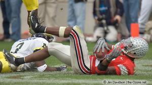 061 Santonio Holmes Ohio State Michigan 2004 The Game football