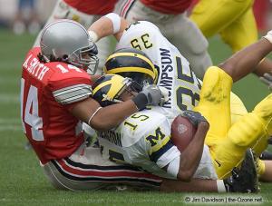 064 Antonio Smith Ohio State Michigan 2004 The Game football