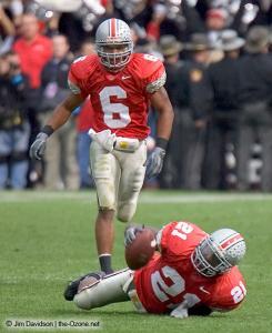 076 Nate Salley Tyler Everett Ohio State Michigan 2004 The Game football
