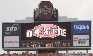 081 scoreboard postgame celebration Ohio State Michigan 2004 The Game football