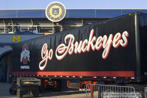 001 Equipment Truck Ohio State Michigan 2005 The Game football
