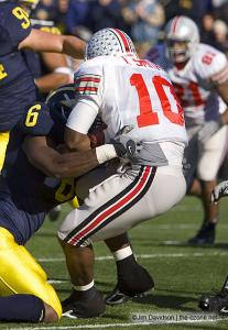 027 Troy Smith Ohio State Michigan 2005 The Game football