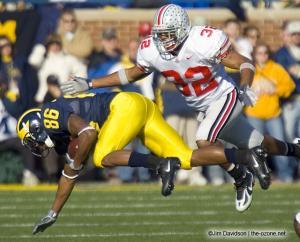 033 Brandon Mitchell Ohio State Michigan 2005 The Game football