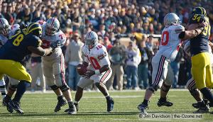 043 Doug Datish TJ Downing Troy Smith Ohio State Michigan 2005 The Game football