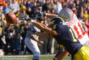 045 Anthony Gonzalez Ohio State Michigan 2005 The Game football