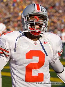 050 Malcolm Jenkins Ohio State Michigan 2005 The Game football