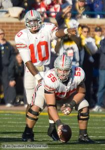 053 Troy Smith Nick Mangold Ohio State Michigan 2005 The Game football