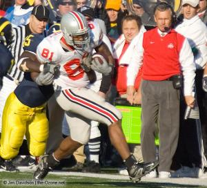 054 Marcel Frost Jim Tressel Ohio State Michigan 2005 The Game football