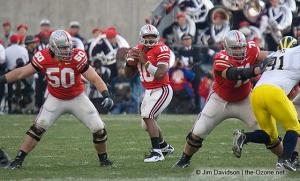 024 Doug Datish Troy Smith Steve Rehring Ohio State Michigan 2007 The Game football