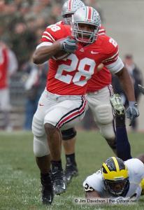 040 Chris Wells Ohio State Michigan 2007 The Game football