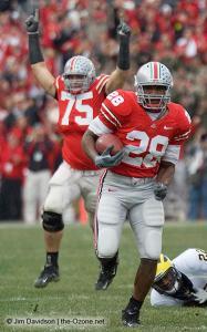 041 Alex Boone Chris Wells Ohio State Michigan 2007 The Game football
