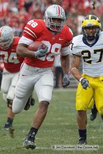 042 Chris Wells Ohio State Michigan 2007 The Game football