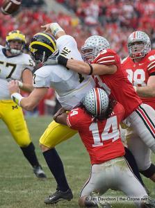 047 James Laurinaitis Antonio Smith Ohio State Michigan 2007 The Game football
