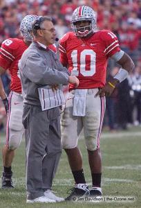 057 Troy Smith Jim Tressel Ohio State Michigan 2007 The Game football
