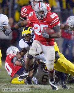 062 Chris Beanie Wells Ohio State Michigan 2007 The Game football