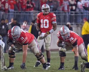 075 Steve Rehring Troy Smith Alex Boone Ohio State Michigan 2007 The Game football