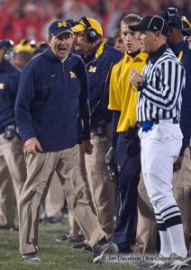 077 Lloyd Carr Ohio State Michigan 2007 The Game football