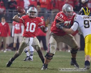 078 Steve Rehring Troy Smith Ohio State Michigan 2007 The Game football