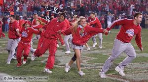 080 OSU cheerleaders Ohio State Michigan 2007 The Game football