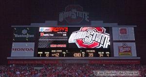 089 scoreboard postgame celebration Ohio State Michigan 2007 The Game football