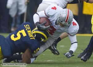 018 Ray Small Ohio State Michigan 2007 The Game football