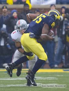 030 Marcus Freeman Ohio State Michigan 2007 The Game football