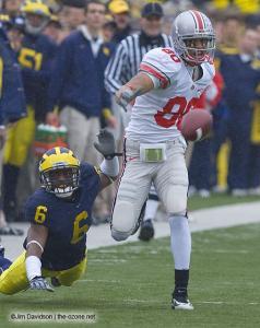 032 Brian Robiskie Ohio State Michigan 2007 The Game football
