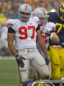 033 Cameron Heyward Dexter Larimore Ohio State Michigan 2007 The Game football