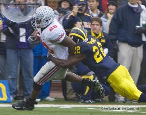 034 Chris Wells Ohio State Michigan 2007 The Game football